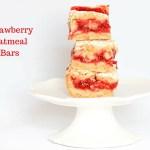 Strawberry Oatmeal Bars  #SundaySupper