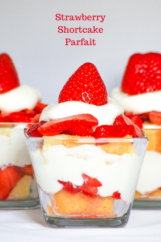 Strawberry Shortcake Parfait