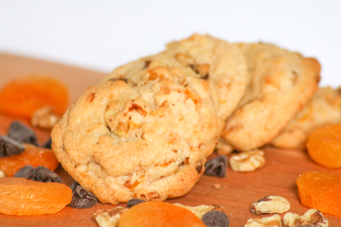 Apricot Walnut Chocolate Chip Cookies are packed with plenty of delicious flavors and are fun to bake with or without the kids.