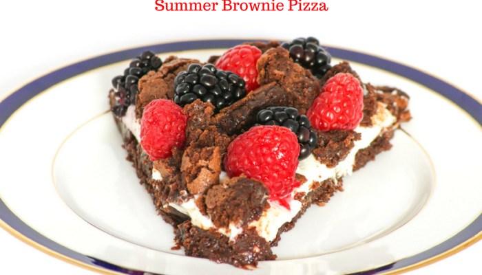 Summer Brownie Pizza