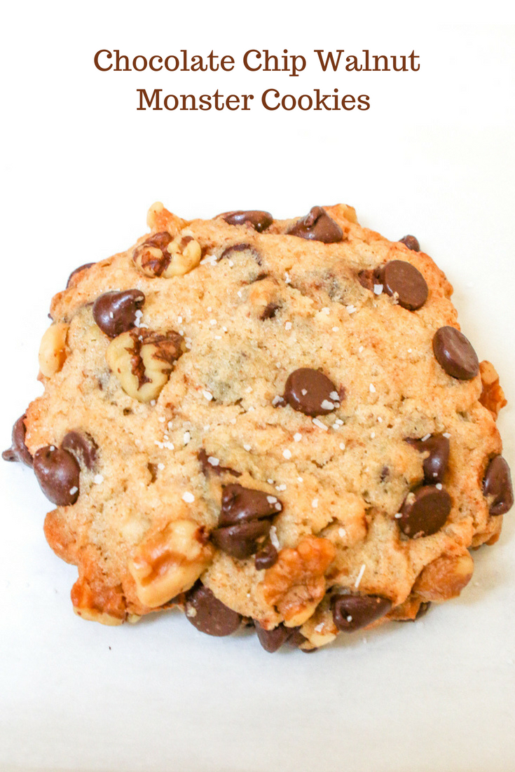 Chocolate Chip Walnut Monster Cookies are gigantic in size and flavor. They are highly addicting and worth every single bite!