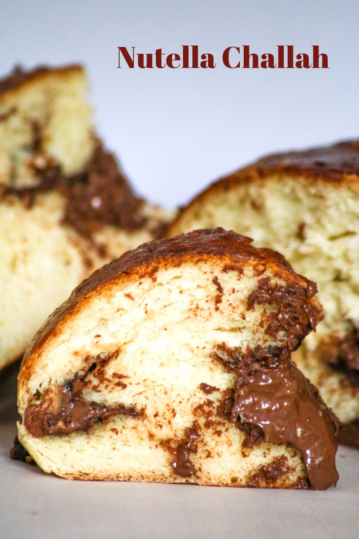 Nutella Challah elevates bread to a whole new level of heavenliness. It is a sweet way to bring in the new year but you should enjoy it year round.