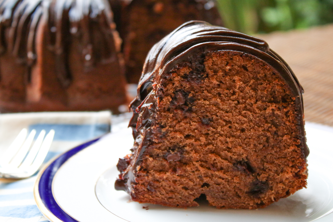 Kahlua Chocolate Chip Bundt Cake is a beautiful cake that is rich in flavor. Serve it for dessert or enjoy a slice whenever you want something decadent.