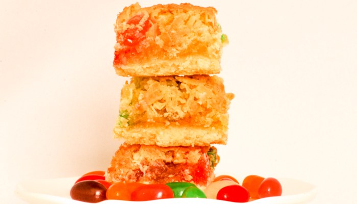 Coconut Jelly Bean Bars are a breeze to put together and a great option to include in an Easter basket or any day of the year!
