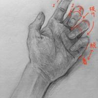 添削159:手のデッサン