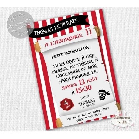 pirates carte d invitation anniversaire