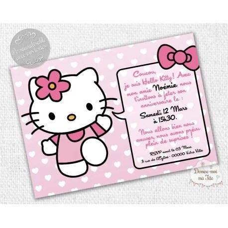 hello kitty rose carte d invitation anniversaire
