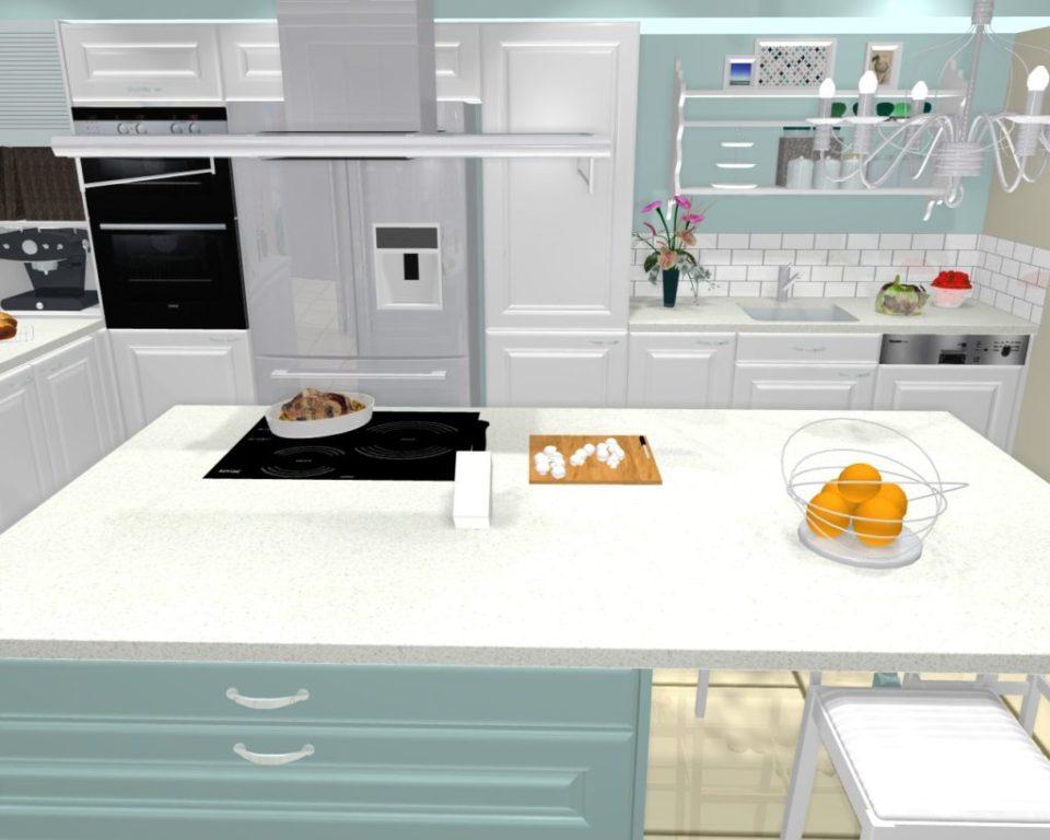 projet cuisine 3d shabby chic