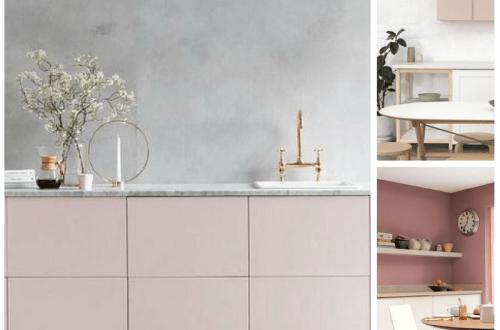 harmonie chromatique cuisine en rose