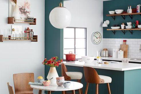 espace repas, manger sur un ilot ou à une table