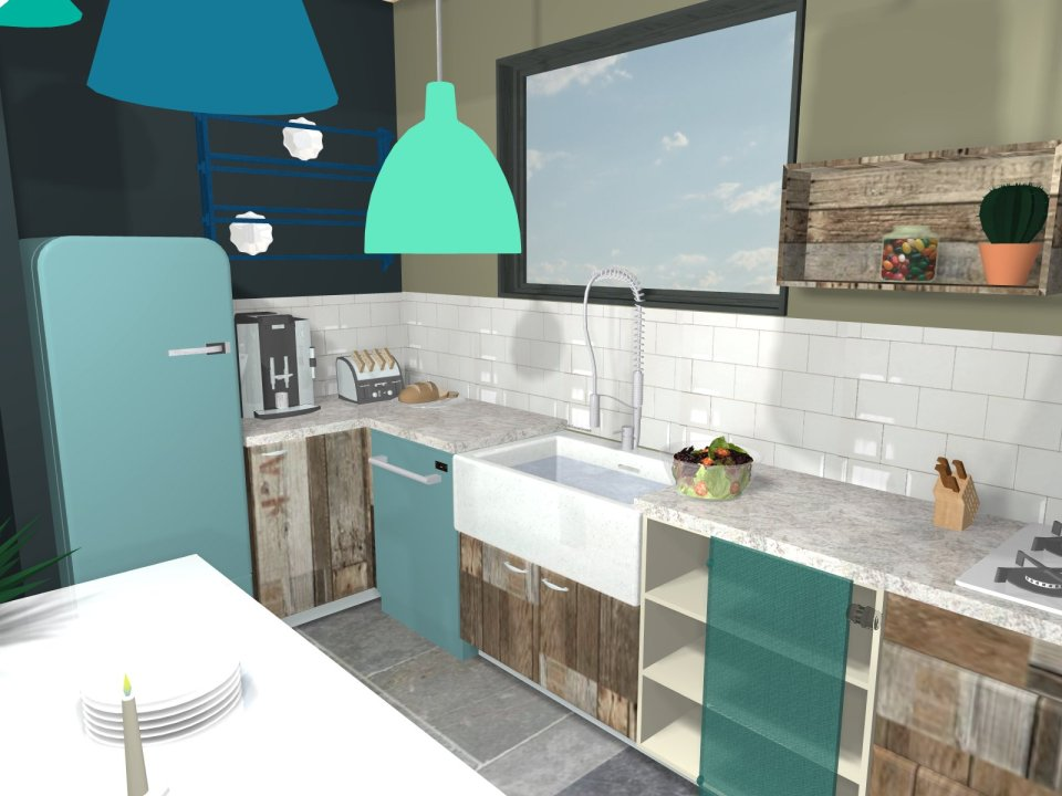 projet de cuisine 3D
