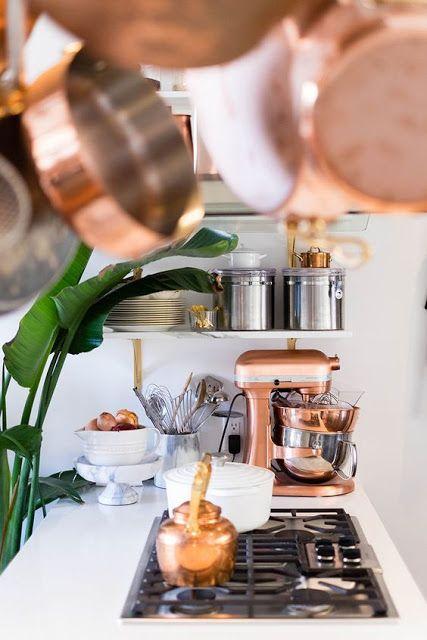 cuisine accessoire en cuivre robot kitchen aid