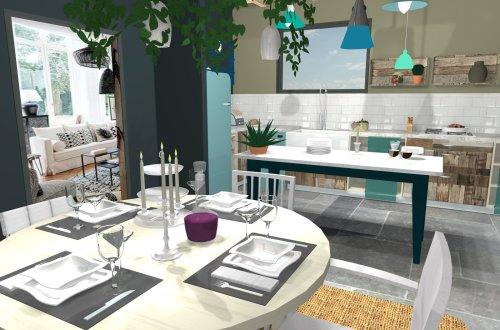 cuisine style bohème projet 3d et diy