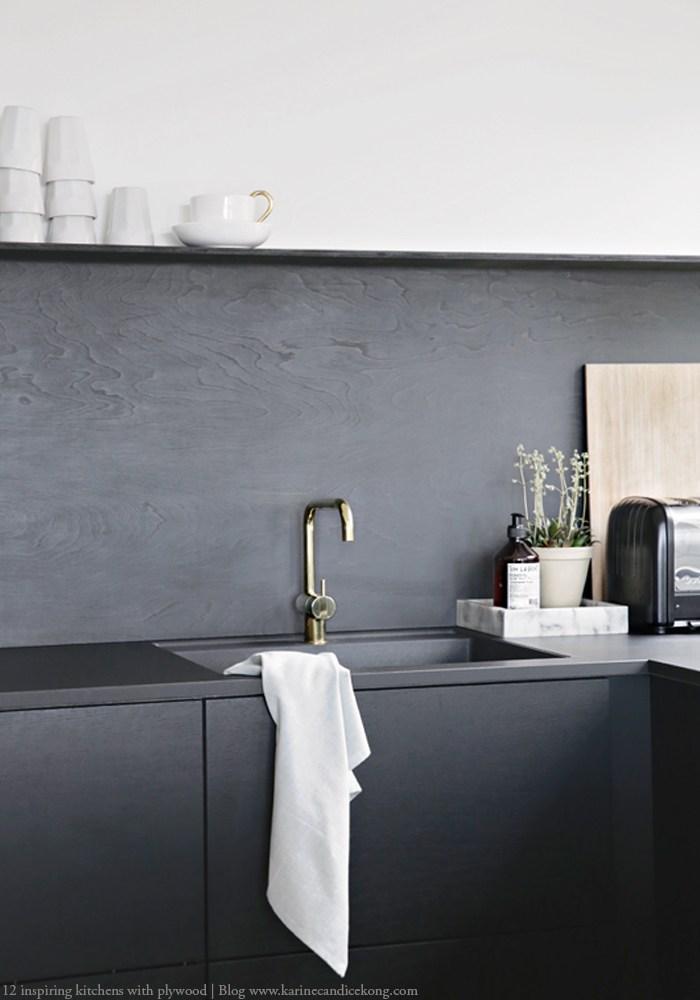 quels matériaux choisir les façades de sa cuisine le contre-plaqué