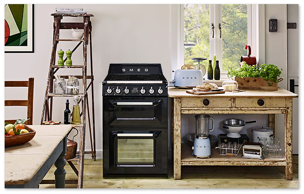 cuisinière compacte smeg induction et double four