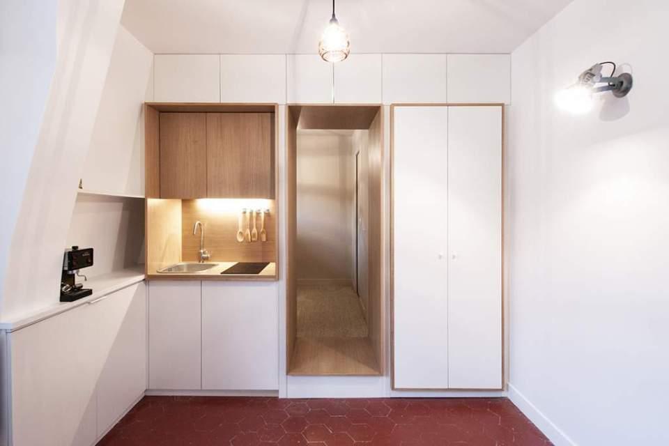 Mini cuisine pour un studio