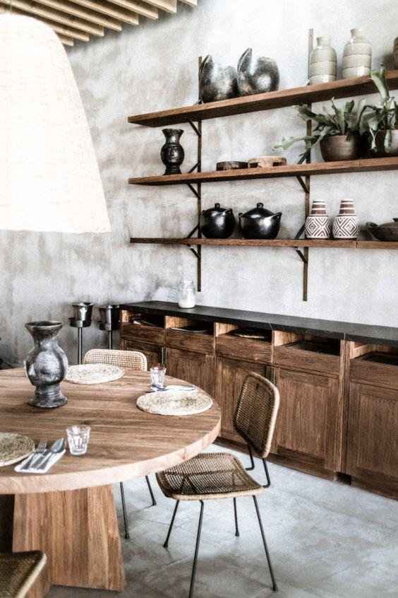 intérieur style Wabi Sabi