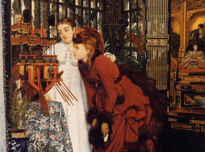 detail-James-Tissot-Young-Ladies-Looking-at-Japanese-Objects