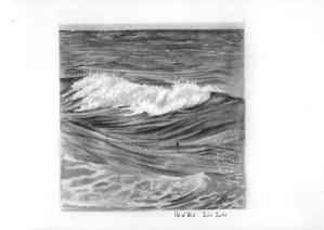 dessin de vague au graphite