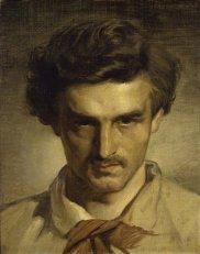 Anselm Feuerbach, Autoportrait de l'artiste dans sa jeunesse, 1851/52