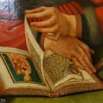 livre d'heures , détail d'une peinture de Q Metsys