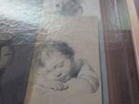détail d'un tableau de Boilly, dessin d' enfant