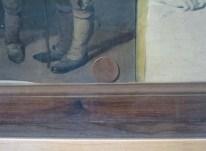 détail d'un tableau de Boilly, pièce de monnaie
