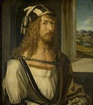 Autoportrait de Dürer avec ses gants - 1498