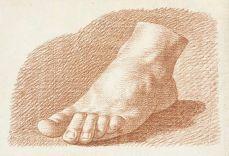 Etude de pied de John Augustus Nahl