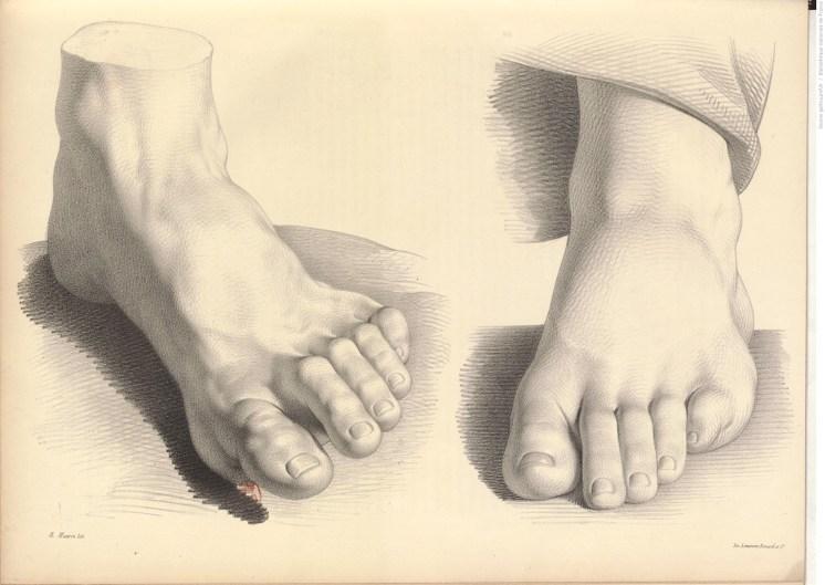dessins de pieds