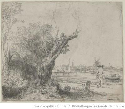 Rembrandt, Graveur, paysage