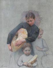 Le retour de la boulangerie d'Emile Friant