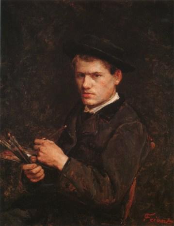Autoportrait d'Emile Friant