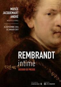 affiche de l'exposition Rembrandt Intime