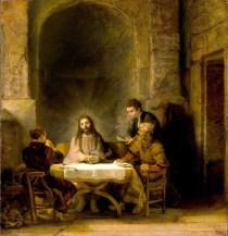 Le Repas des Pèlerins d'Emmaüs de Rembrandt - 1648