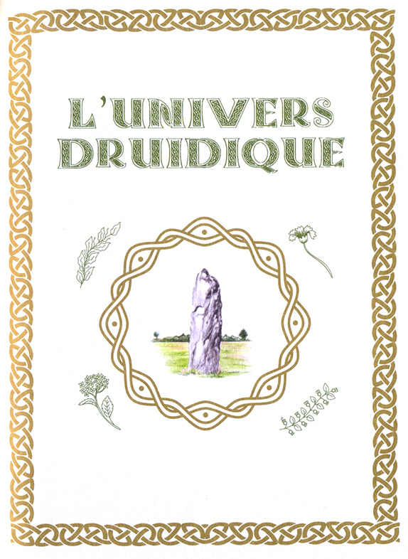 page l'univers druidique avec illustration d'un menhir