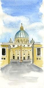 croquis st-pierre Rome