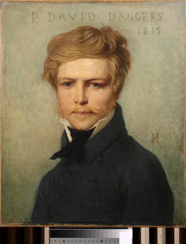 portrait peint du sculpteur David d'Angers