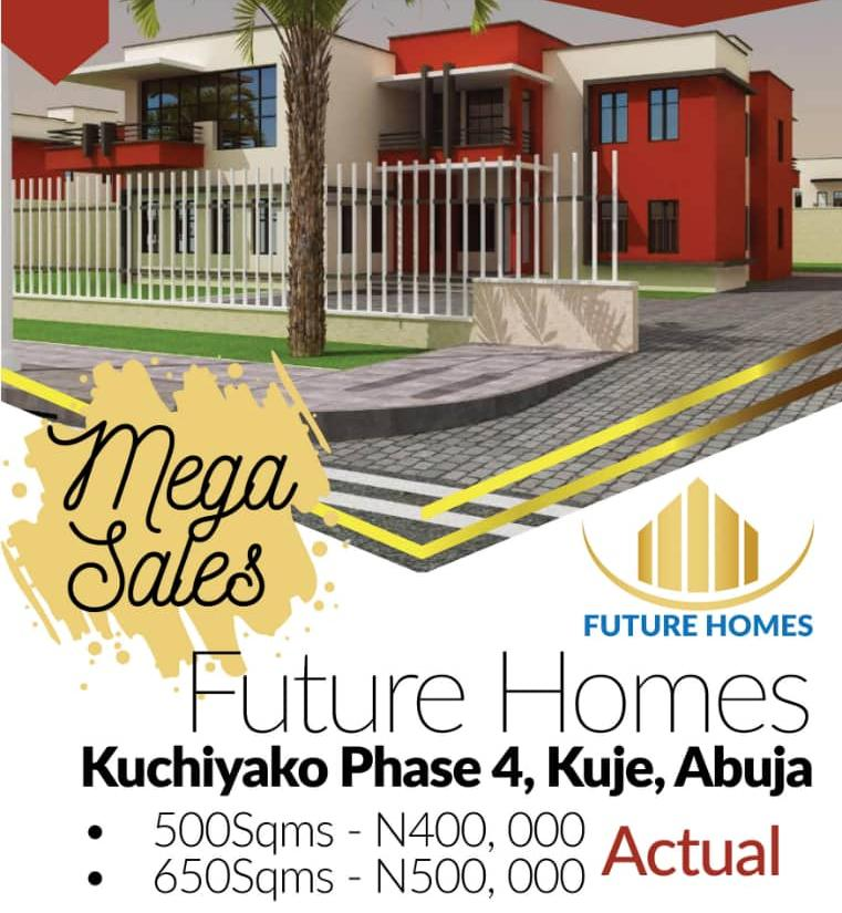 Land For Sale in Future Homes Estate,Kuje Abuja