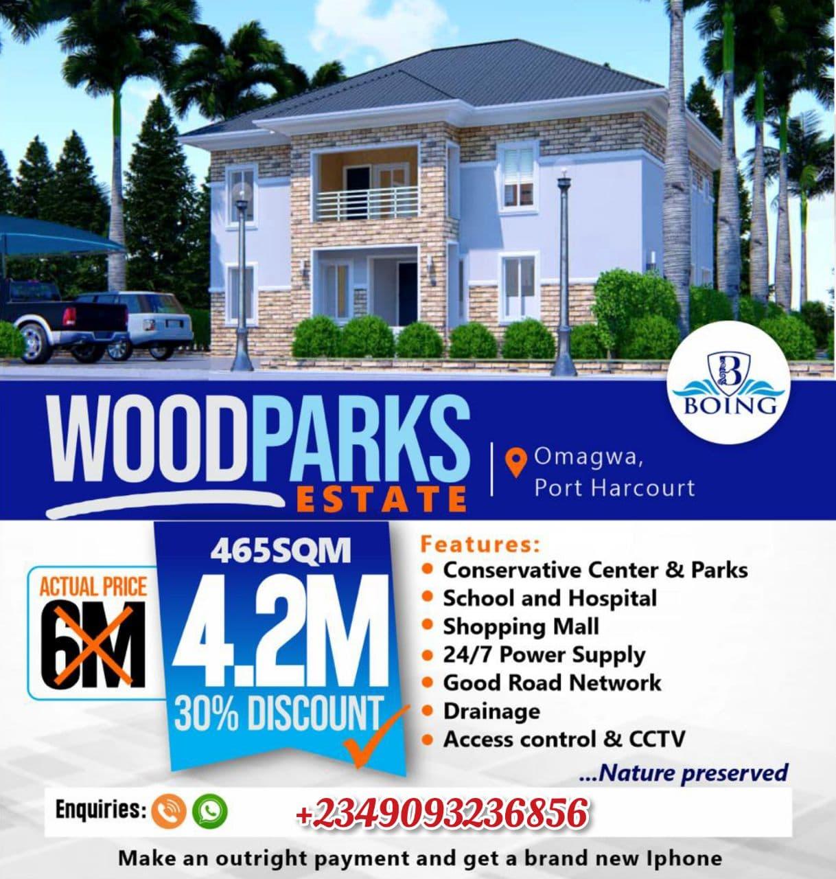 Land For Sale in Woodparks Estate, Omagwa, Port Harcourt