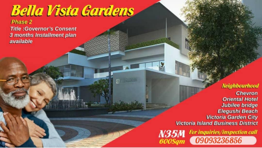 Land for Sale in Bella Vista Gardens Phase 2 inside Ikota Villa Estate, Lekki