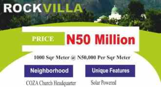 Amazing Land Offer at Asokoro Rock Villa Estate, Asokoro Extension, Abuja