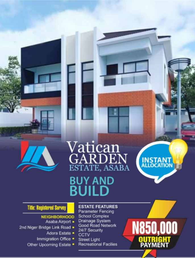 Land For Sale in Vatican Garden Estate Asaba