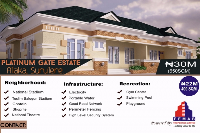 Land For Sale in Platinum Gate Estate, Surulere, Lagos