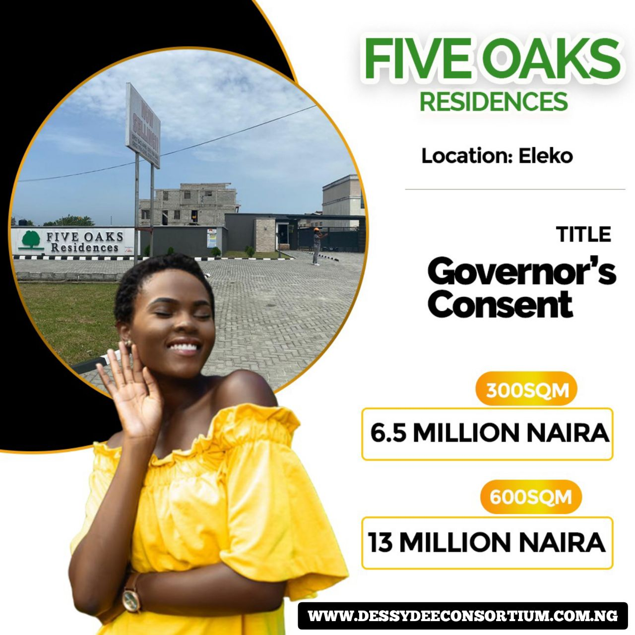 Affordable Land Now Selling in Five Oaks Residences, Eleko
