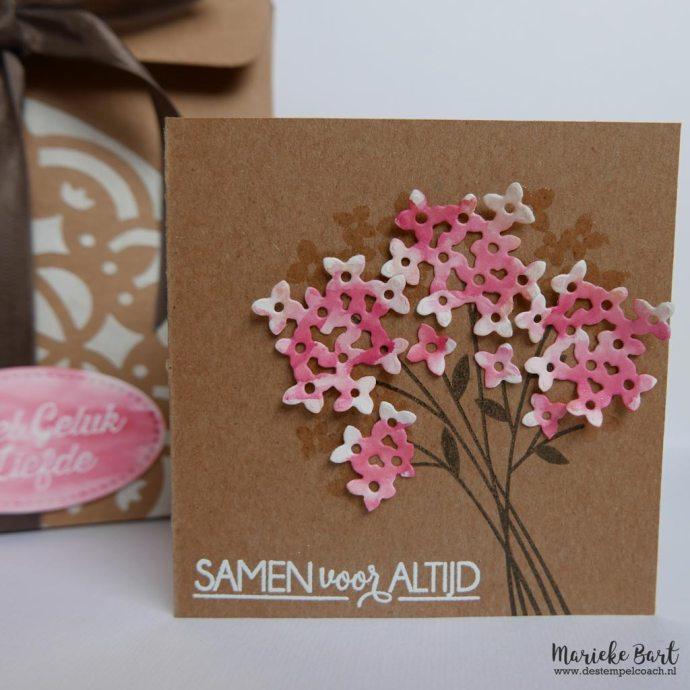 Stampin' Up! Boeket vol goede wensen met Bouquet Bunch Framelits
