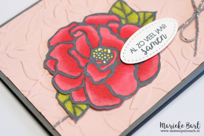 Rose from Beautiful Day and text from Boeket Vol Goede Wensen Stamp Set by Stampin' Up!