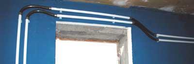 Jonctions réalisées en tuyaux souple |système d'aération du locarium .