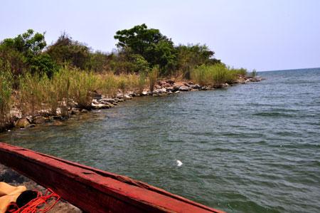 Pointe de Kalago (Karago), lac Tanganyika.