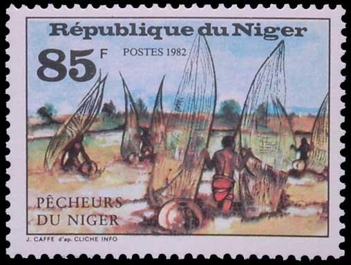 Pêche à l'épuisette au Niger.
